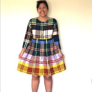 Gorman Green Plaid Dress, 10